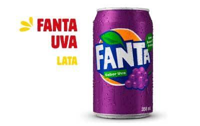 Refrigerante em lata - Fanta uva