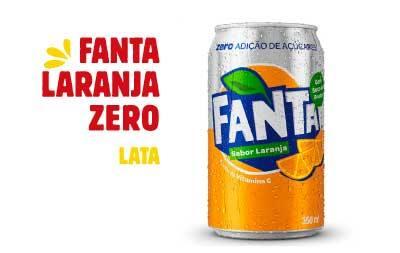 Refrigerante em lata - Fanta laranja zero