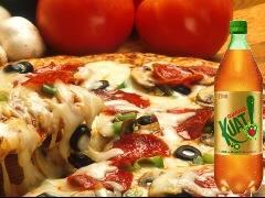 Pizza grande + refri (Kuat) 2l