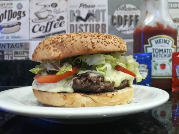 Hambúrguer especial do chef