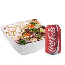 Carne com Legumes Pequeno Executivo + Coca-Cola Lata