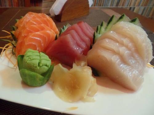 Sashimi simples (15 peças)