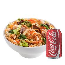 Yakissoba clássico pequeno + Coca-Cola lata