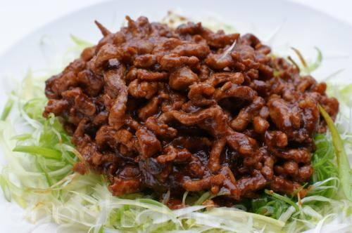 37-carne desfiada com cebolinha ao molho pequim