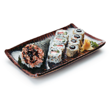 Sushi temaki salmão