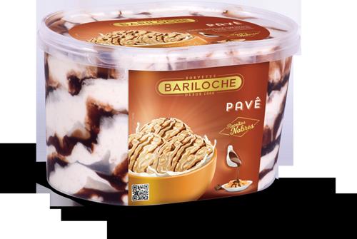 NOBRES 1, 5 L. PAVÊ: SABOR PAVÊ COM BISCOITO E CALDA DE CHOCOLATE