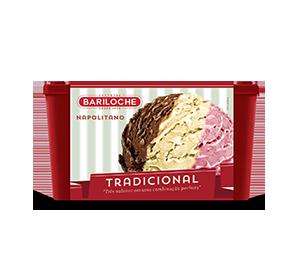 TRADICIONAL 1, 5 L. NAPOLITANO: CREME, CHOCOLATE E MORANGO
