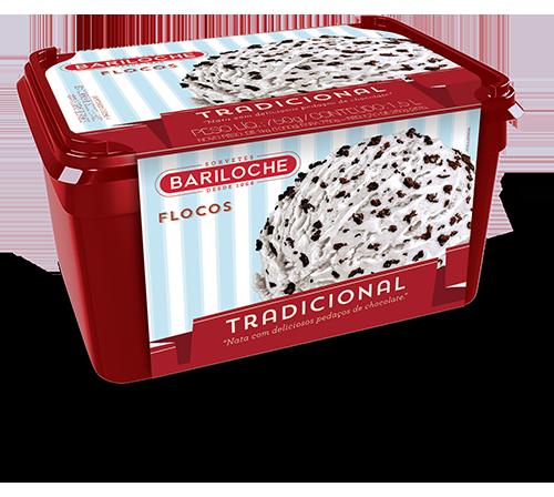 TRADICIONAL 1, 5 L. FLOCOS: NATA COM PEDAÇOS DE CHOCOLATE