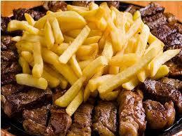 Picanha a palito com fritas