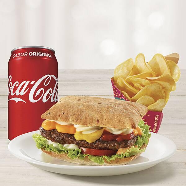 Combo panino (batata média + refrigerante lata ou suco 300ml)