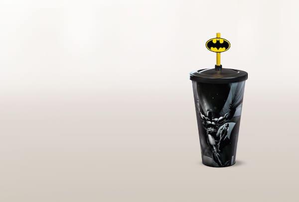 Copo pin amarelo batman