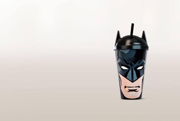 Copo rosto batman