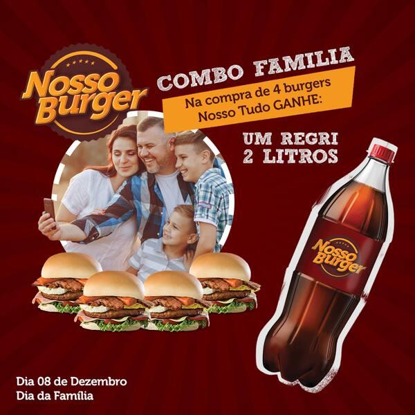 Promo família (4 nosso tudo + refrig. 2 litros)