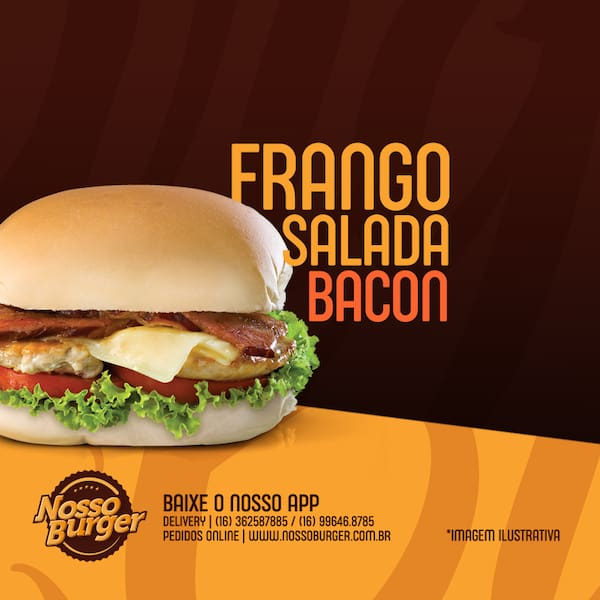 Frango salada bacon
