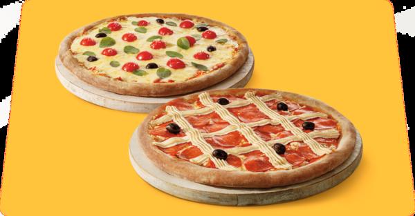 Duas pizzas premium com desconto especial