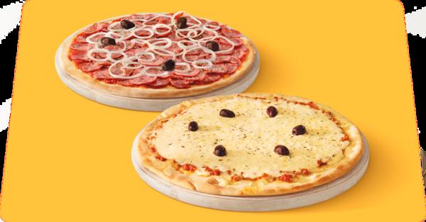 Duas pizzas com desconto especial