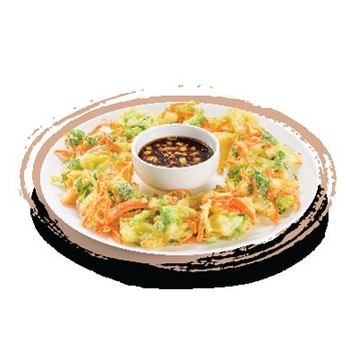 Tempurá de legumes - frito