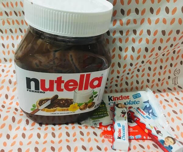 Tapioca Nutella c/ Kinder chocolate