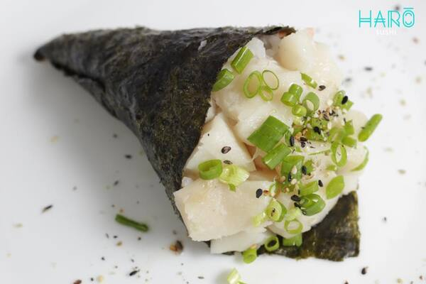 Temaki peixe branco
