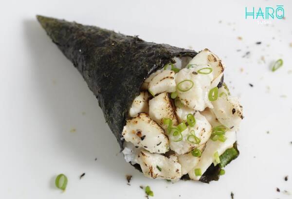 Temaki peixe branco maçaricado