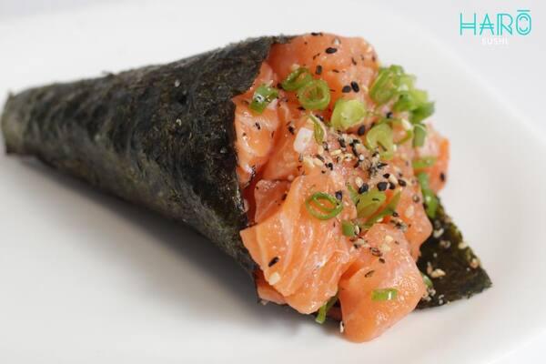 Temaki de salmão