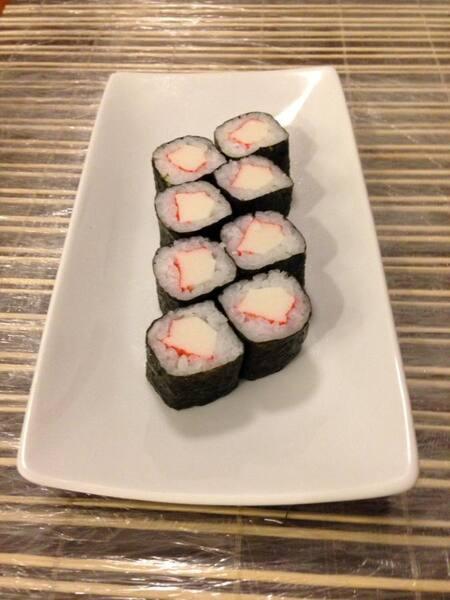 Hossomaki de Kani (Kanimaki) - 4 Peças