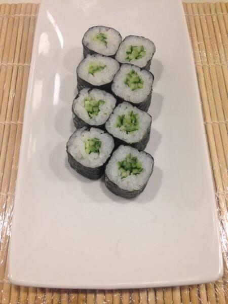 Hossomaki de Pepino (Kappamaki) - 4 Peças