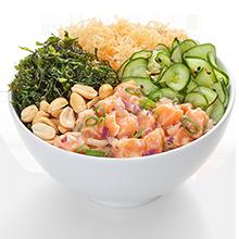 Poke ceviche salmão com salada