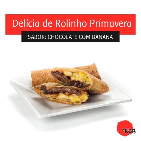 Rolinho chocolate com banana - unidade