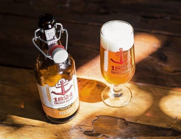 Cerveja 1824 imigração pilsen