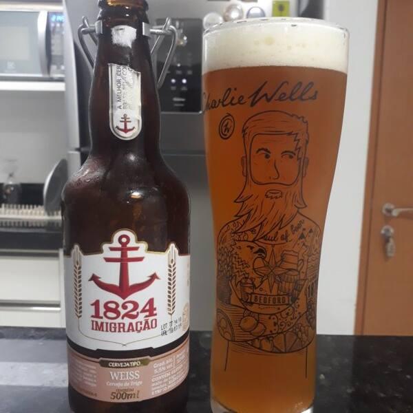Cerveja 1824 imigração weiss