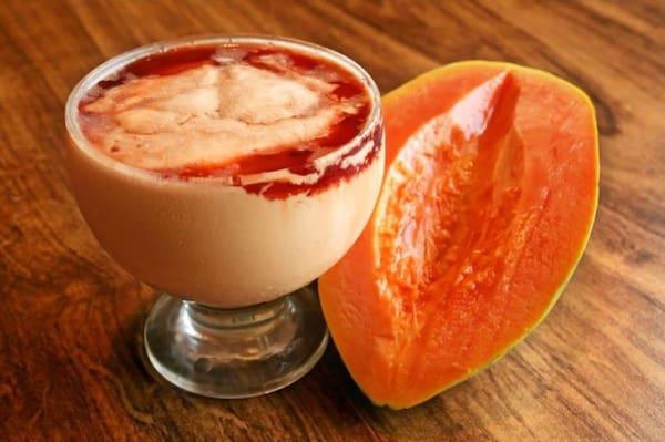 Creme de papaya  com cassis