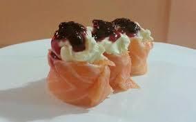 Joe de salmão geleia
