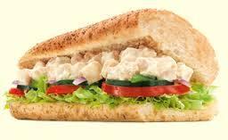 Sanduíche frango defumado com cream cheese 30 cm