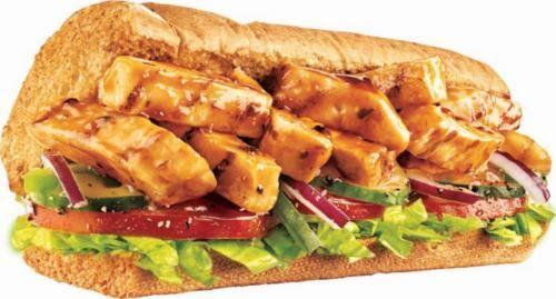Sanduíche frango teriyaki 30 cm