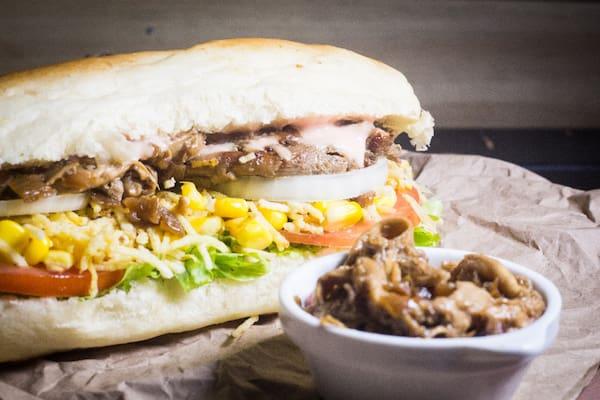 Sanduiche com shimeji