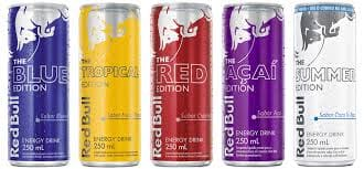 Red Bull sabores 250ml