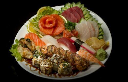 Combinados especialidades i (6 sushis, 10 sashimis, 8 hot rolls)