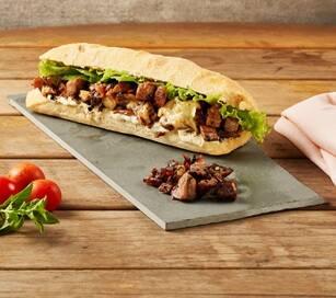 Sanduiche de carne caseira