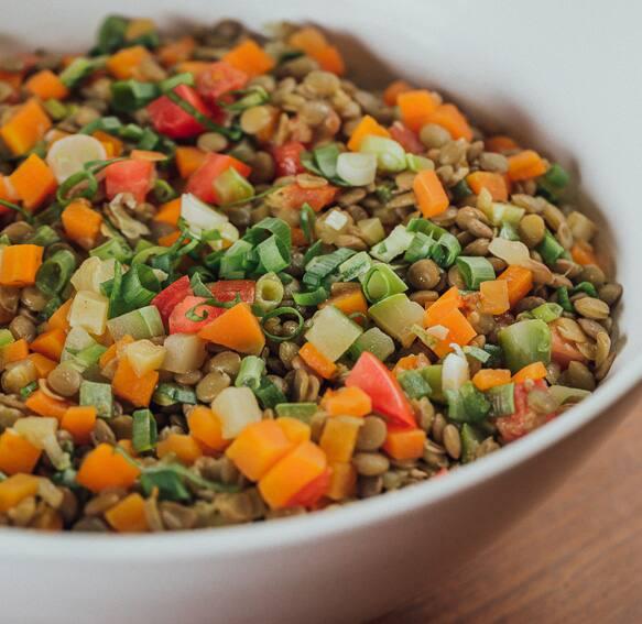 Lentilha com legumes