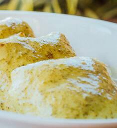 Crepe de espinafre com ricota
