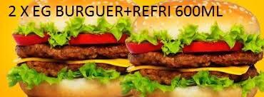 2 X EG BURGUER + REFRI 600 ML