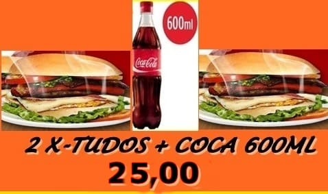 2 x - tudo + coca 600