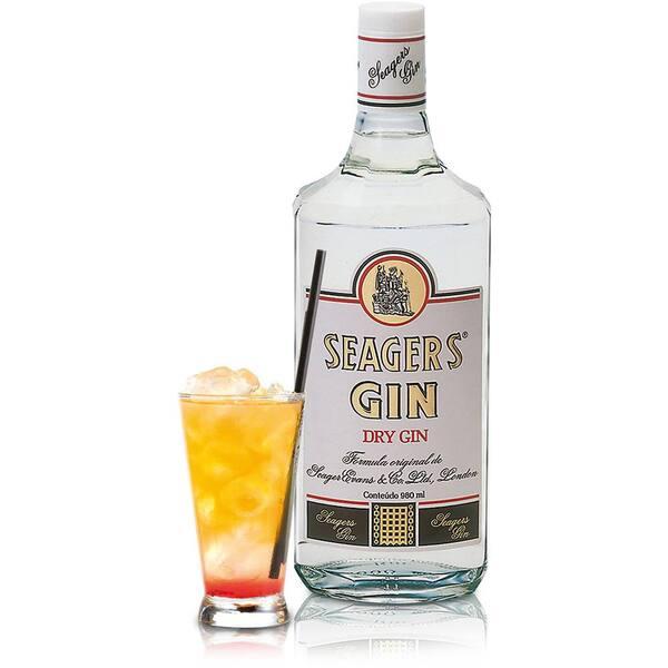 Gin Seagers + 4 Tônicas Antarctica Lata + Gelo Filtrado 3, 5kg