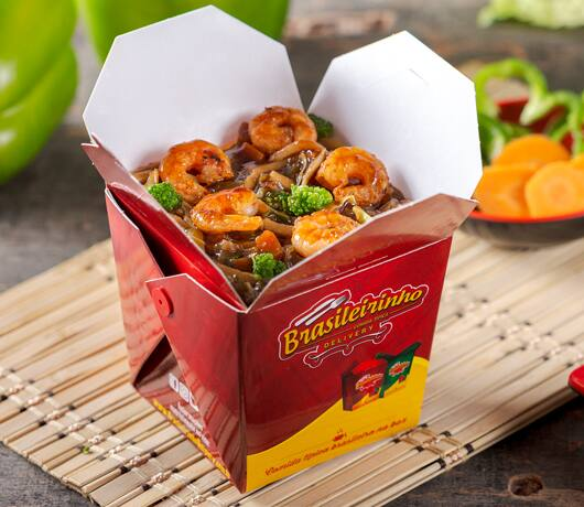 Box yakisoba camarão