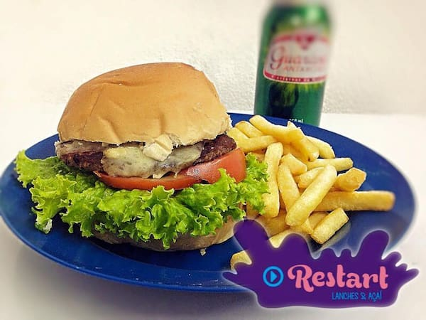 X-salada(acompanha 100gr fritas)