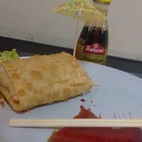 Harumaki de salmão