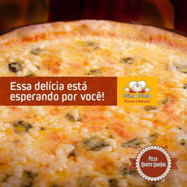 Pizza grande sabor Quatro Queijos com SUPER DESCONTO