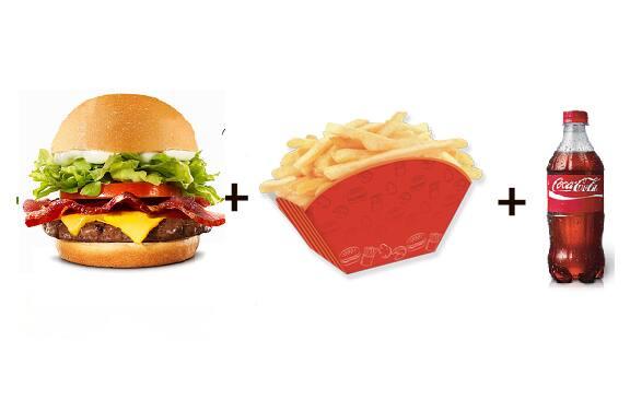 X-bacon + batata frita + refri