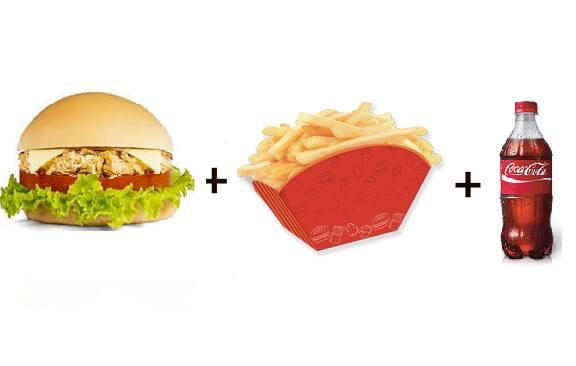 X-frango + batata frita + refri